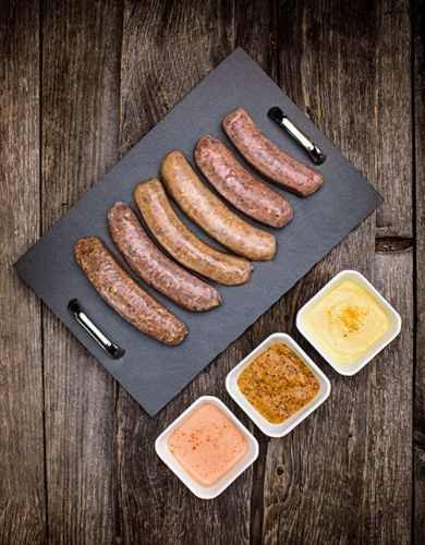 Saucisses Européennes 100% bœuf :  Saveur Capres et Olives